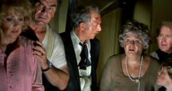 Stella Stevens, Ernest Borgnine, Jack Albertson, Shelly Winters, Red Buttons and Eric Shea in The Poseidon Adventure