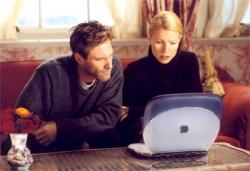 Aaron Eckhart and Gwyneth Paltrow in Possession.