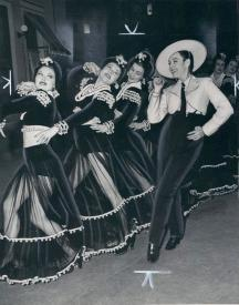 Paulette Goddard as a crossdressing caballero in one of the musical numbers from Pot o' Gold.