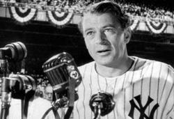 Gary Cooper in Pride of the Yankees.