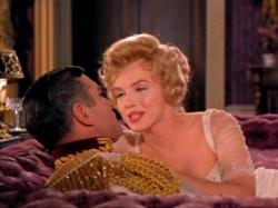 Laurence Olivier and Marilyn Monroe in The Prince and the Showgirl.