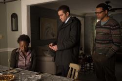 Viola Davis, Jake Gyllenhaal, and Terrence Howard in Prisoners.