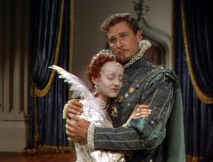 Bette Davis and Errol Flynn in The Private Lives of Elizabeth and Essex.
