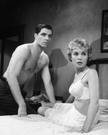 John Gavin and Janet Leigh in Psycho