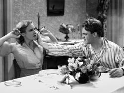 Mae Clarke and James Cagney in The Public Enemy.