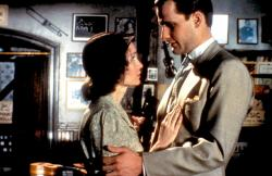 Mia Farrow and Jeff Daniels in The Purple Rose of Cairo.