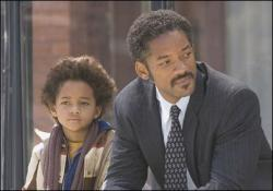 Jaden and Will Smith in The Pursuit of Happyness.