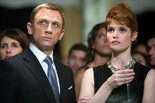 Not your fathers 007.  Daniel Craig and Gemma Arterton.