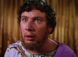 Peter Ustinov as the Emperor Nero in Quo Vadis.