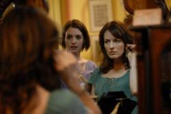 Anne Hathaway and Rosemarie Dewitt reflect in Rachel Getting Married