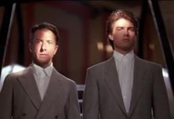 Dustin Hoffman and Tom Cruise in Rain Man.
