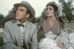 Montgomery Clift and Elizabeth Taylor in Raintree County.