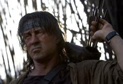 Sylvester Stallone in Rambo.