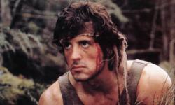 Sylvester Stallone as John Rambo in First Blood.