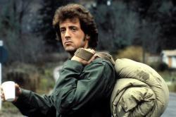 Sly Stallone as John Rambo.