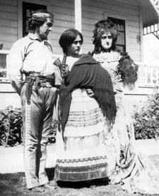 Henry B. Walthall, Mary Pickford and Kate Bruce.