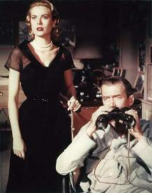 Grace Kelly and James Stewart in Rear Window