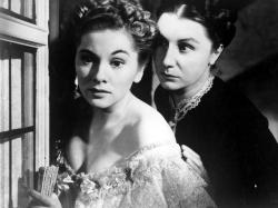 Joan Fontaine and Judith Anderson in Rebecca.
