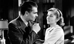 Laurence Olivier and Joan Fontaine in Rebecca.