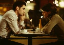Colin Farrell and Bridget Moynahan in The Recruit.