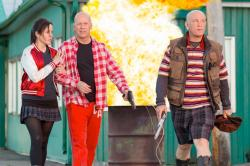 Mary-Louise Parker, Bruce Willis and John Malkovich in Red 2.