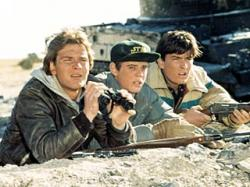 Patrick Swayze, C. Thomas Howell and Charlie Sheen in Red Dawn