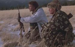 Patrick Swayze and Charlie Sheen in Red Dawn.