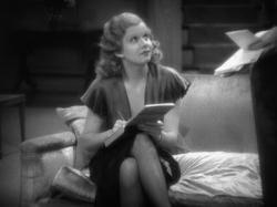 Jean Harlow takes dictation.