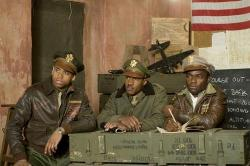 Tristan Wilds, Nate Parker and David Oyelowo in Red Tails.