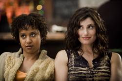 Tracie Thoms and Idina Menzel in Rent.