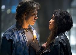 Adam Pascal and Rosario Dawson in Rent.