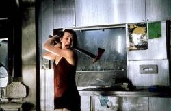 Milla Jovovich in Resident Evil.