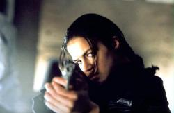 Michelle Rodriguez in Resident Evil.