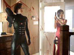 Milla Jovovich and Bingbing Li in Resident Evil: Retribution .