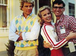 Ted McGinley, Julia Montgomery and Robert Carradine in Revenge of the Nerds.