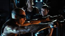 Vin Diesel, Katee Sackhoff and Matt Nable in Riddick.