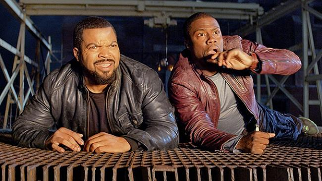 Ice Cube and Kevin Hart in Ride Along.