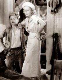 Mickey Rooney and Jean Harlow in Riffraff
