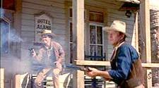 Ricky Nelson and John Wayne in Rio Bravo.
