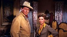 John Wayne and Angie Dickinson get to know each other.