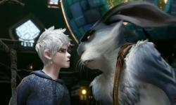 Jack and Bunny, trying to see things eye to eye in Rise of the Guardians