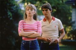 Rebecca De Mornay before she became a nanny and Tom Cruise before he jumped the couch, in Risky Business