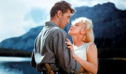 Robert Mitchum and Marilyn Monroe in River of No Return.