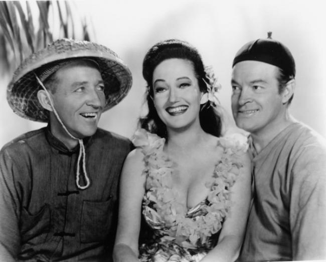 Bing Crosby, Dorothy Lamour and Bob Hope in Road to Hong Kong.