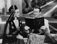 Dorothy Lamour and Bob Hope in Road to Morocco.