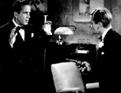 Humphrey Bogart and James Cagney in The Roaring Twenties.