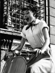 Audrey Hepburn being precious.