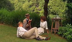 Julian Sands, Daniel Day-Lewis and Helena Bonham-Carter in A Room with a View.