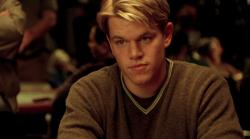 Matt Damon in Rounders.