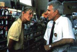 Daryl Hannah and Steve Martin in Roxanne.